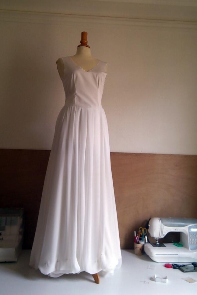 Robe de mariée sur mesure, partie 3
