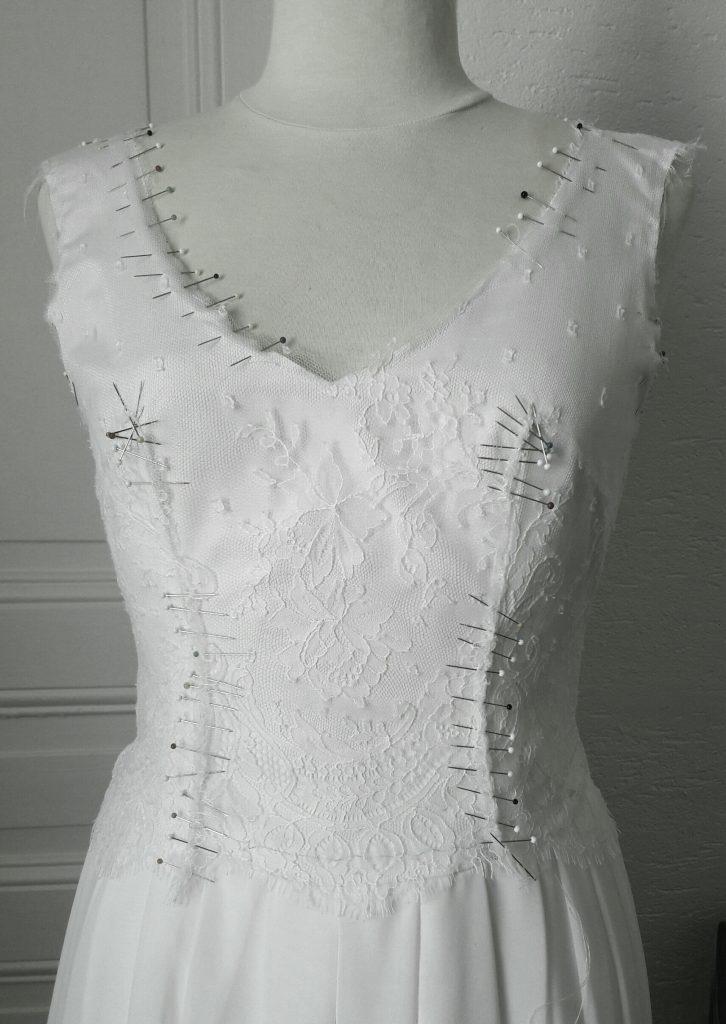 La Robe de Mariée sur mesure terminée!