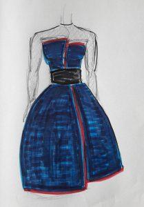 Cours de couture à Clichy pour une robe de soirée