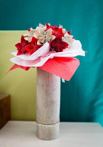 Bouquet de fleurs en papiers